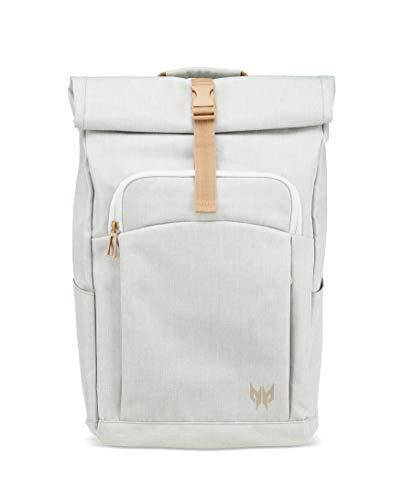 Predator Gaming Rolltop Rucksack (für bis zu 15,6 Zoll Notebooks, wasserdicht, 35,5 Liter Fassungsvermögen, das ganze Equipment in einer Tasche) weiß