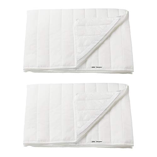 Ikea ANGSVIDE 80x200cm Machine Washable Mattress Protector - Set of 2