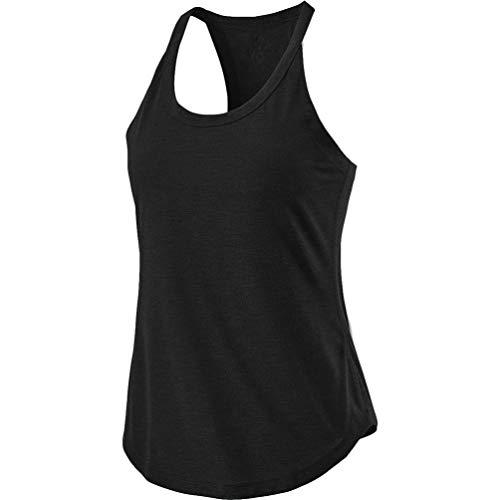 LaoZan Dames Yoga Workout Mouwloos Racerback Vest Fitness Training Sport T-Shirt Lichtgewicht