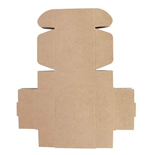 Caja- 50 piezas patrón de hoja de arce caja de embalaje de papel Kraft pequeño regalo caja de envoltura artesanal Favor de fiesta de boda