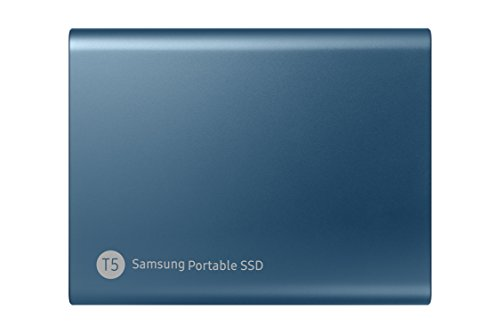 Samsung T5 500GB - Disco Estado Sólido SSD Externo (500 GB, USB), Color Azul (Ocean Blue)