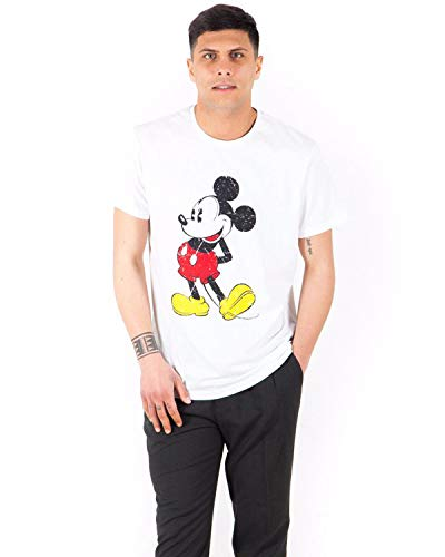 Fratelli ditalia T-Shirt Sommer Mickey Disney Junge Baumwolle Mittel Ärmel Druck XL Bianco