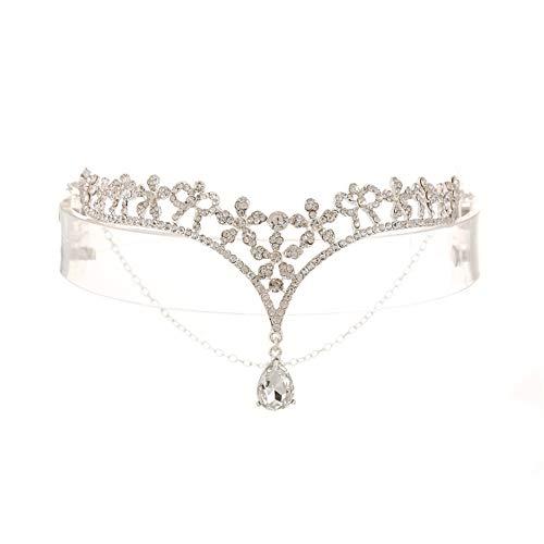 Fablcrew 1 Stück Braut Stirn Augenbrauen Hochzeitskopfschmuck Stirnschmuck Size 14.5 * 8cm (Stil 1)