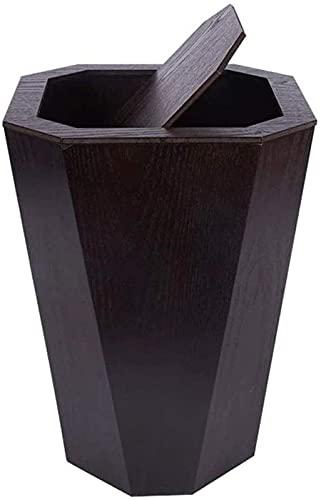 DZCGTP Papelera de Reciclaje de residuos/Papelera Papelera Papelera doméstica con Tapa Papelera de Madera Contenedor de Basura de 6,6 galones para el hogar Kit