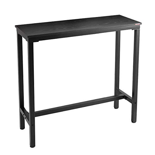 "Mr IRONSTONE 39.4"" Bar Table Pub Dining Height Table Black Bistro Table (Indoor USE ONLY)"