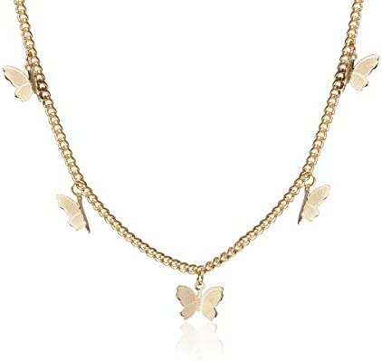 Kercisbeauty Gold Butterfly Necklace for Women Ladies Girls Gift Her Jewelry Butterfly Choker product image
