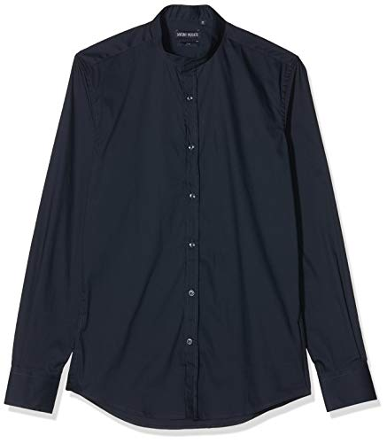 Antony Morato Heren Camicia Manica Lunga Collo Coreano Casual Shirt