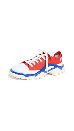 adidas Women's RAF Simons Detroit Runner Sneakers, Red/Silver/Blue, 11 Medium US
