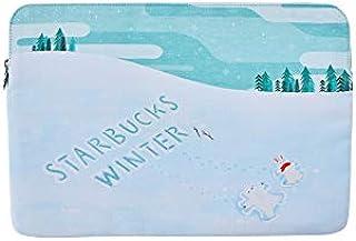 Starbucks スターバックス 2019 ホリデー ウィンター スノー ラップトップ バッグ/PCポーチ/韓国正規品 海外限定品 日本未発売 スタバタンブラー