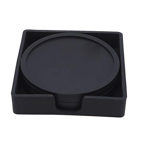 Generic FEITeng EIN Set mit 4 runden rutschfesten Wärmedämmkissen, Silikon-Untersetzer für die Wohnküche,schwarz