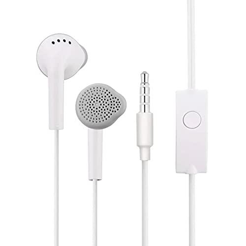Fone de Ouvido para Celular com Plug P2 Estéreo Earphone com Microfone para Atender Chamadas Branco Sumexr SEJ-B20