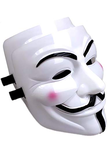 Mcgranny V for Vendetta Mask Scary Halloween Mask for Adult Men Simple Anonyumous Costume Cosplay for Party Carnival and March Protest