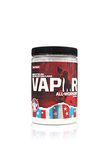 Vaper All-Workout (No Crash/No Jitters Pre-Workout + Vegan BCAAs + Thermogenic Fat Burner + Electrolyte Hydration) 4 Products in 1 Drink! (Iced Out White Cherry)