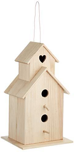 Rayher 6178300 Holz-Vogelhaus Saint Tropez, 22 x 19 x 39 cm