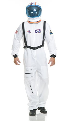 Charades Unisex-Adult's Astronaut Costume, White, Medium