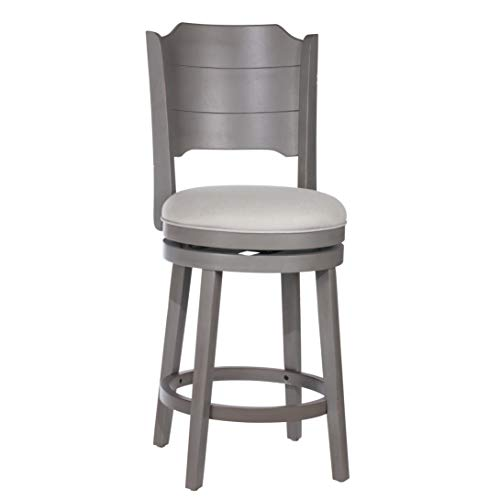 Hillsdale Furniture Hillsdale Clarion, Distressed Gray Wood Swivel Counter Stool