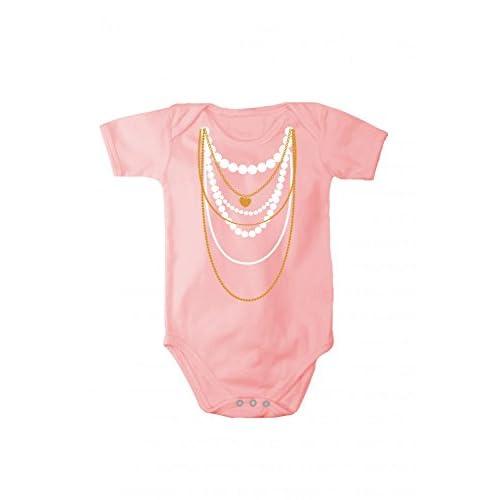 Body pagliacetto con stampa collana, Taglia:62 cm;Colore:Rosa