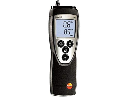 TESTO 512 (2 HPA) 0560 5126 Manometer double LCD,with a backlit 0-2hPa Meas.accu