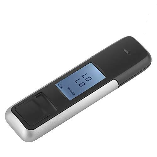 Analizador de borrachera práctico Alcoholímetro Detector de Bebida de Peso Ligero Probador de Vino de conducción LCD para automóvil para automóvil(Silver, Pisa Leaning Tower Type)