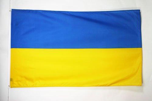 AZ FLAG Flagge Ukraine 150x90cm - UKRAINISCHE Fahne 90 x 150 cm - flaggen Top Qualität