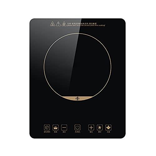 Placa De Cocina De Inducción 2200 W Quemador De Encimera De Placa Caliente Portátil 5 Niveles Temperatura Temporizador Apagado Automático Panel Táctil Pantalla LED Inducción Placa Vitrocerámica