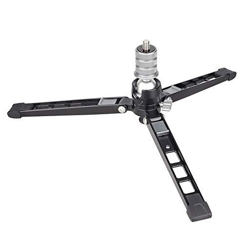 Titular de la lente de la cámara PW70 mini trípode de Monopod la base del soporte for la cámara réflex digital del teléfono celular del metal del montaje flexible de escritorio de mesa Tripode con cab