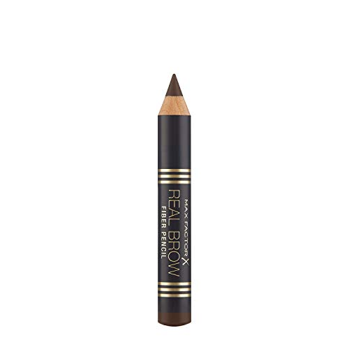 Max Factor Real Brow Fiber Pencil Deep Brown 4 – Augenbrauenstift mit 3D-Effekt – Für natürlich definierte Augenbrauen – Farbe Braun – 1 x 1 g