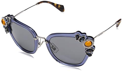 Miu Miu 0MU03SS VAV6Q0 51 Gafas de sol, Azul (Bluette/Grey), Mujer