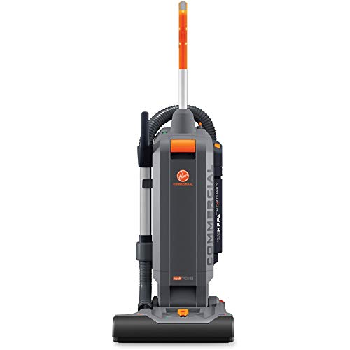 Hoover Commercial-CH54115 HushTone Upright Vacuum Cleaner, 15 inches with Intellibelt, Gray