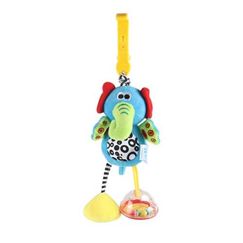 Juguetes sensoriales, juguetes sensoriales de agua dulce para bebés, juguetes de sonajero para colgar para bebés, juguetes para cochecitos con clip para cochecito y silla de paseo y asiento de automó