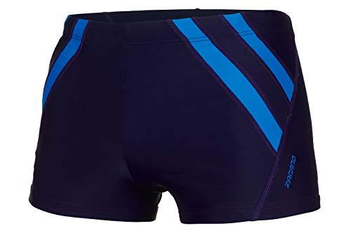 Zagano Badehose Herren Badehose, Enge Schwimmhose für Männer mit Zip Pocket und Kordelzug, Shorts S Dunkelblau, hergestellt in der EU