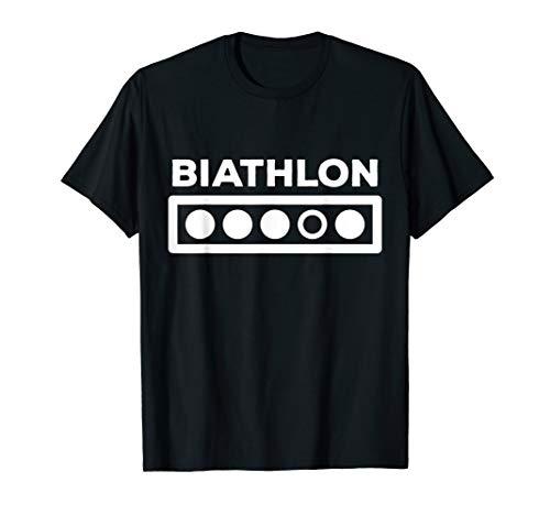 Biathlon Schießstand Geschenk - Wintersport Biathlet T-Shirt