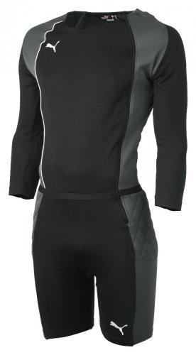 PUMA Herren Torwartanzug GK Bodysuit Overall, Black/Dark Shadow/White, XL
