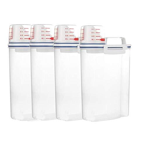 Fenteer 4X Dispensador De Cereales Almacenamiento De Arroz Barril Harina Cereal Sazonador Contenedor Caja