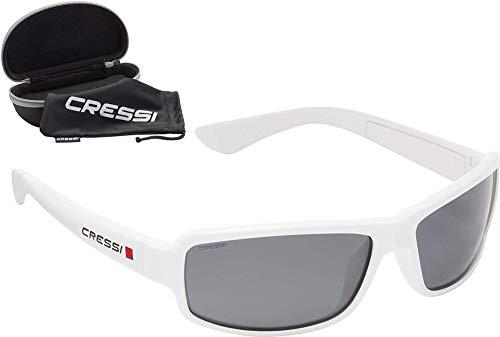 Cressi Ninja Floating - Gafas Flotantes Polarizadas para Deportes con una protección 100% UV Adultos Unisex, Blanco/Lentes Fumé ✅