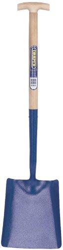 Pelle carrée en acier forgé à manche en frêne en forme de T grip manche en frêne et cavité en acier forgé Largeur de la lame : 250 mm et 300 mm de long. Vendu en vrac.