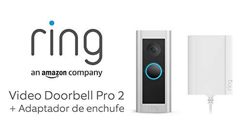 Te presentamos el Ring Video Doorbell Pro 2 con adaptador de enchufe de Amazon: vídeo de cuerpo entero y detección de movimiento 3D, prueba gratuita de 30 días del plan Ring Protect