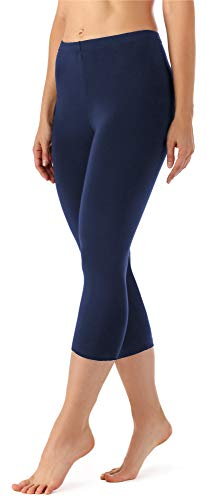 Merry Style Damen Leggings 3/4 aus Viskose MS10-144 (Dunkelblau, XS)