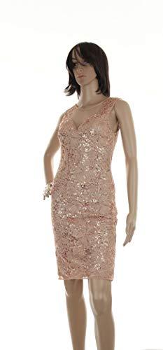 Molly Bracken W712E19 - Vestido ajustado de lentejuelas con espalda de tul