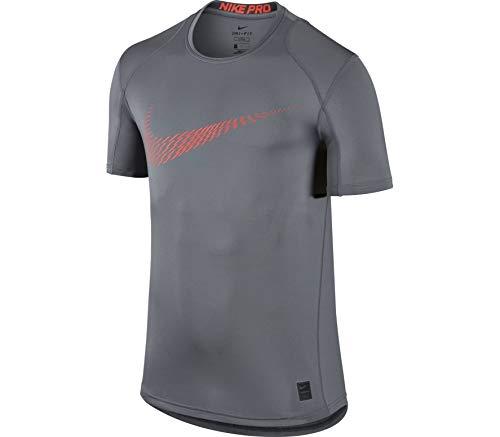 NIKE Swoosh - Camiseta para Hombre, Color Gris y Gris