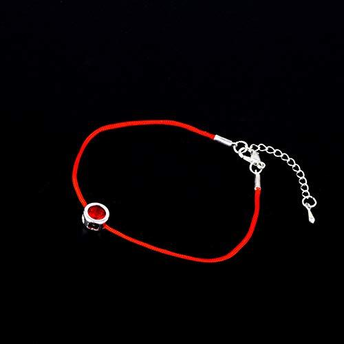 PIU Eenvoudige Kristal Rode Touw Armband 1 st Mooie Geschenken Verstelbare 2020nieuwe Aankomst Allergie Gratis Zee