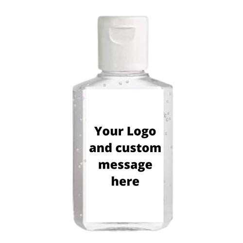 Custom Hand Sanitizer Labels | Your Logo and Custom Message | Sheet of 20 Labels (Rectangle 2.25'H x 1.25'W)