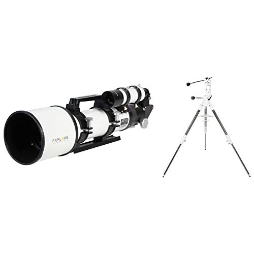 "Explore Scientific AR102 102mm Air-Spaced Doublet Achromat Refractor, 663mm f/6.5, 1.14 arcsec, 2"" 2-Speed Focuser, 8x50 Straight-Thru Finderscope"
