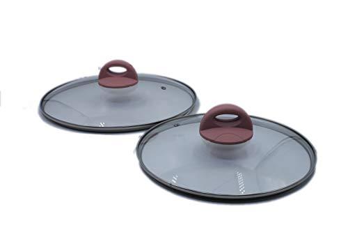 Genius Cerafit Style Lot de couvercles de casserole Rose 28/24 cm