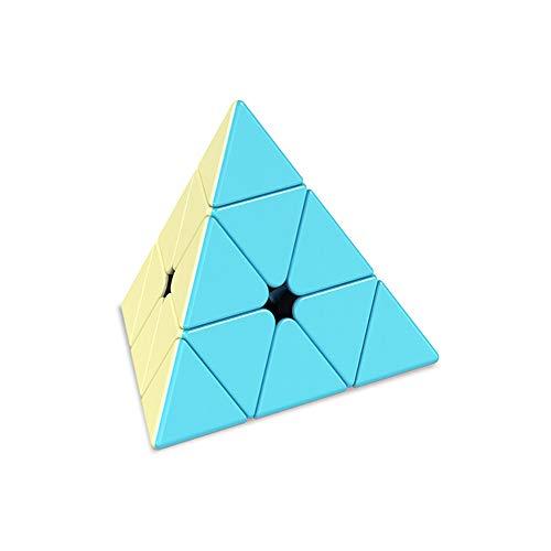 CuberSpeed Moyu MoFang JiaoShi Macaron Meilong Pyraminx stickerless Magic Cube MFJS MEILONG pyraminx Cubing Classroom Meilong pyraminx Macaron Speed Cube