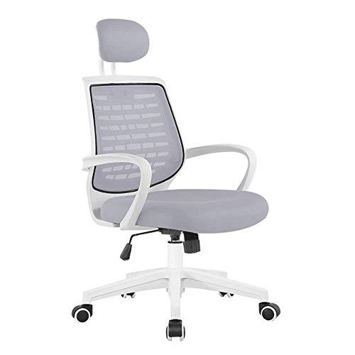 WSDSX Schlafzimmer Home Office Schreibtischstuhl Moderne Einfachheit Schreibtischstuhl Anhebbare Kopfstütze Kippspannung Lordosenstütze Lagergewicht 150 kg (Farbe: Schwarz)