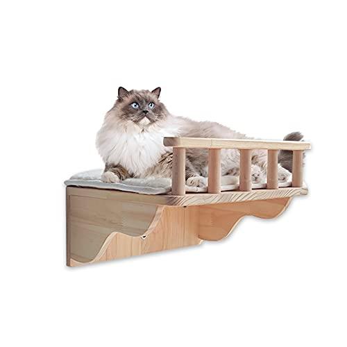 Felivecal Gatti mobili da parete in legno/piattaforma, per gatti e gatti