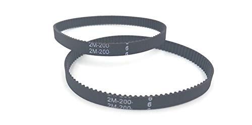 YUNJINGCHENMAN 10pcs/lot Closed Timing Belt Loop Rubber GT2 Timing Belt 200-2GT-6 Length 200mm Width 6mm Teeth 100 3D Printer