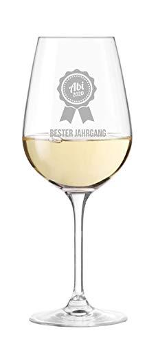 KS Laserdesign Leonardo Weinglas mit Gravur ''zum Abitur'' - Abi, Abschluss, selbst gestalten mit Jahr, Schule, Lehrer, Geschenk