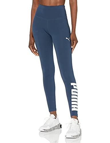 PUMA Athletic Logo Tights Leggings, Mensaje, M para Mujer